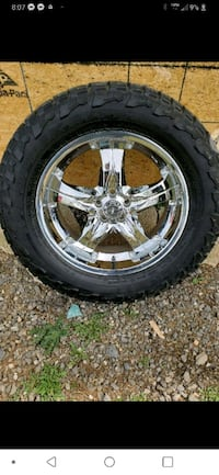 chrome 5-spoke car wheel with tire Front Royal, 22630