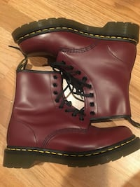 Dr. Martens  cherry red 8-Eye Boot (women's size 7) never worn