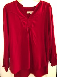 Loft red blouse, size extra small petite Arlington, 22201