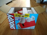 Snoopy ,dog house cookie jar .