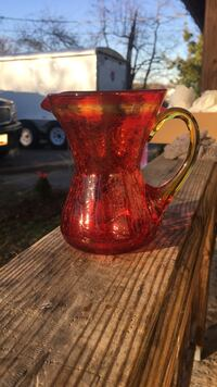 red glass pitcher Hagerstown, 21740