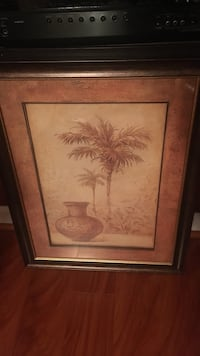 painting of palm tree