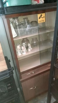 Glass door, drawer and bottom cupboard hutch 3140 km
