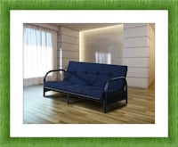 Black Futon frame new with mattress and free shipping 47 km