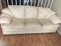 white leather 3-seat sofa Alexandria, 22302