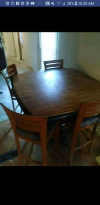 rectangular brown wooden table with six chairs dining set West Columbia, 29172
