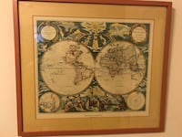 The Known Globe 1667 picture w.frame. Yonkers, 10704