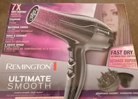 REMINGTON D5950 Ultimate Smooth Dryer, 3 Heat + 2 Speed Settings + Cool Shot, Black/Purple Toronto