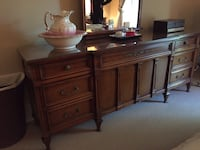 Dresser & Mirror with Glass Top Great Condition  Côte Saint-Luc, H4W 2C1
