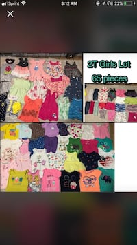 65 pc toddler girls 2t summer clothing lot  Bethlehem, 18109