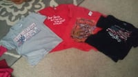4 assorted tshirts most are sz small and med.  903 mi