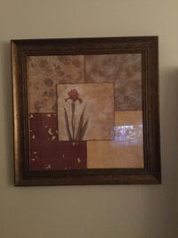 brown wooden framed painting of flowers Mars Hill, 28754