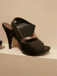 pair of black leather peep-toe pumps Toronto, M1N 3N2