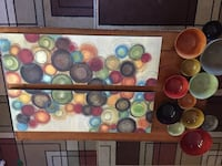 Wall art canvas and bowls Eau Claire, 54701