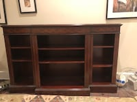 Antique solid mahogany tv stand/bookcase/media base Washington, 20007