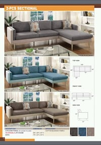 2pcs sectional w/2 accent pillows West Covina, 91792