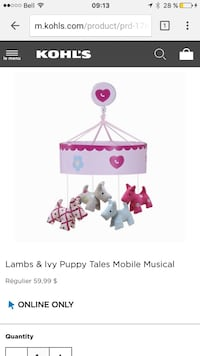 lambs and ivy puppy tales mobile musical L'Assomption, J5W