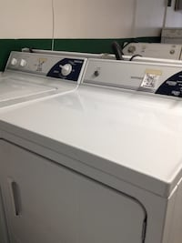 White Hotpoint washer and dryer set Indianapolis, 46201