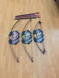 Bow & Arrows for kids. 13 Arrows & 3 Bows. $50 firm!!! New Westminster