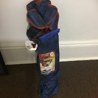 Blue and red spider-man camping chair bag Boston