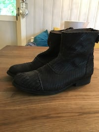 black scaled leather boots Åsvang, 2332