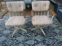 two white-and-brown padded armchairs Fresno, 93702