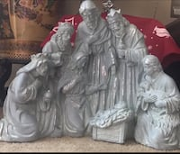 """Large cement 18"""" tall 24"""" long nativity of Jesus Christ click on my emoji profile picture for more listings interested message me pick up in Gaithersburg Maryland 20877 all sales final  Gaithersburg, 20877"""