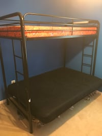 black metal bunk bed frame Leesburg, 20176