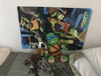 Assorted TMNT figures, two posters and plush toy  London, N6J 3N6