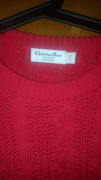 N/Auth? ChristianDior Red Cableknit Sweater Winnipeg, R2R 0Z5