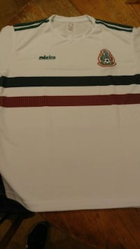 white and black striped polo shirt 588 mi