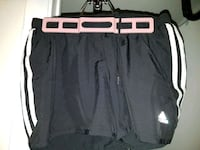 black and white Nike drawstring shorts