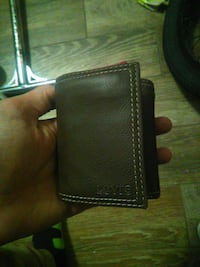 brown Levi's leather wallet