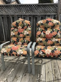Six Patio chairs with cushions  Kitchener, N2E 3T8
