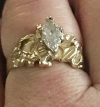 Gold diamond ring Sulphur, 70663