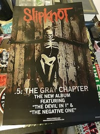 Slipknot promo poster x2 double sided Warwick
