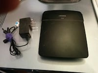 black Linksys modem router