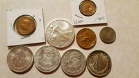 Old silver coins from Mexico and the U.S  West Valley City, 84120