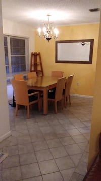 PACKAGE: Dining Room Set / Corner Stand / Wall Mirror Package MIAMI