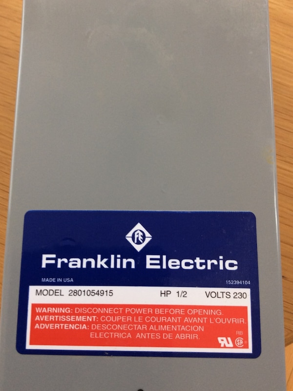 Used 1/2 HP Franklin Electric model 2801054915 for sale in