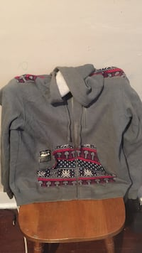 Gray and red zip-up jacket Clarksville, 37043