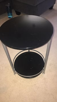 black bed side table/end table 20008
