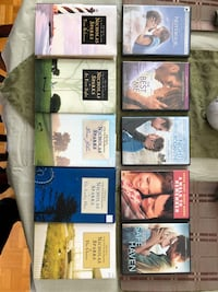 Nicholas Sparks DVD collection - Books are sold Kirkland, H9H 5B1