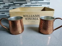 2 Williams Sonoma Hammered Copper Mug (Moscow mule)