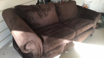 Chocolate Brown Microfiber Sofa, and Oversized Chair