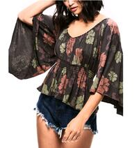 Free People Floral Blouse