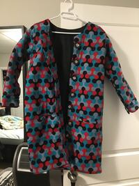 African print button up coat in size small  Winnipeg, R3Y 0N1