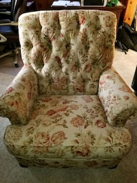 beige and red floral sofa chair Paw Paw, 49079