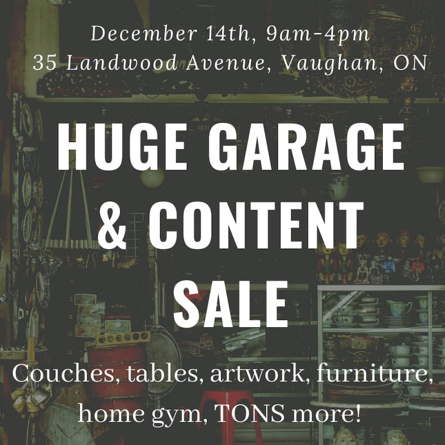 Huge Garage and House Content Sale in Thornhill Woods