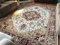 White, red, and green floral area rug Gainesville, 20155